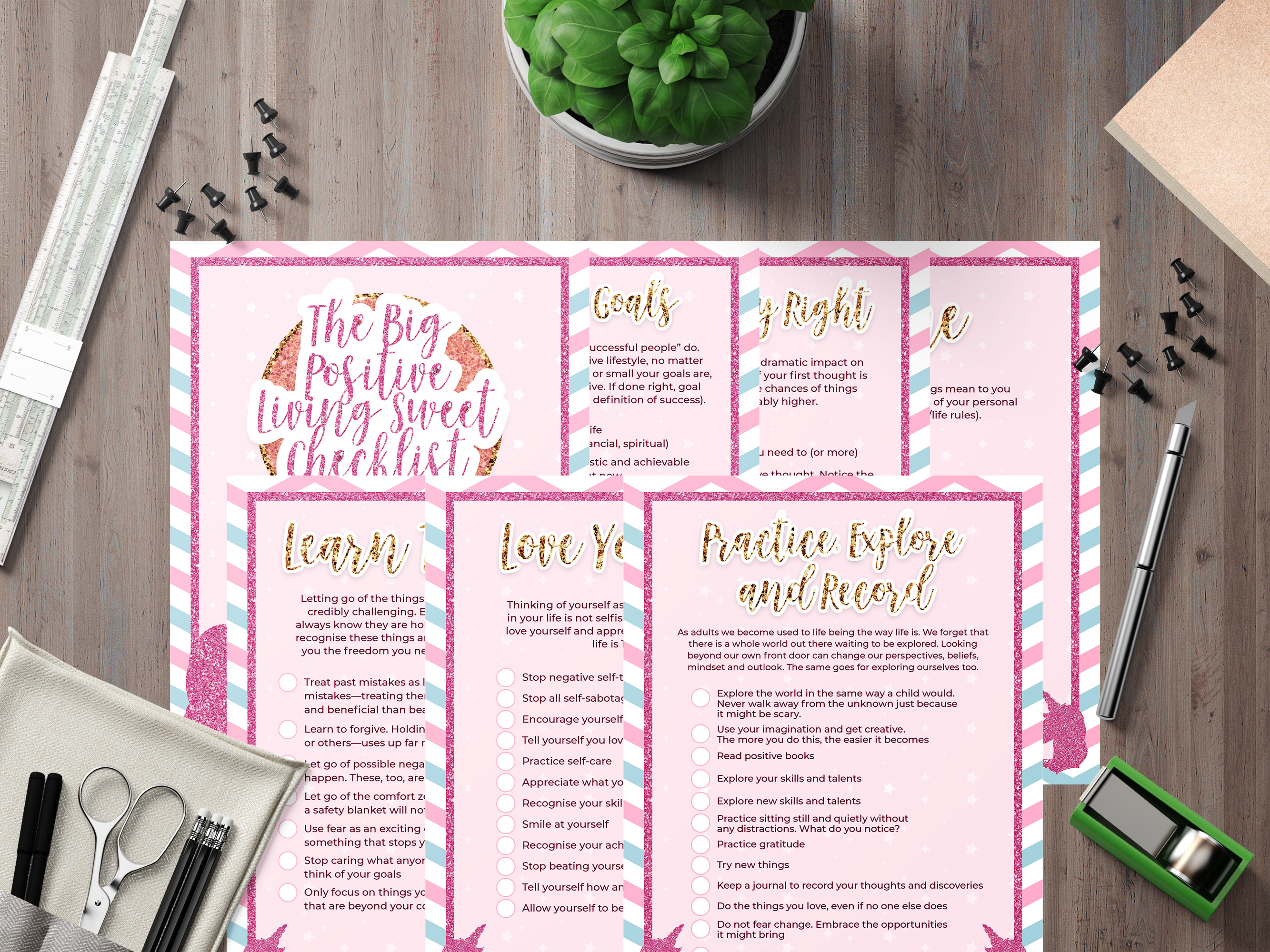 7 Pretty Unicorn Positivity Checklists