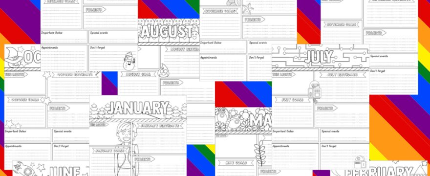 Colossal Bundle Of Coloring Calendar Planner Printables