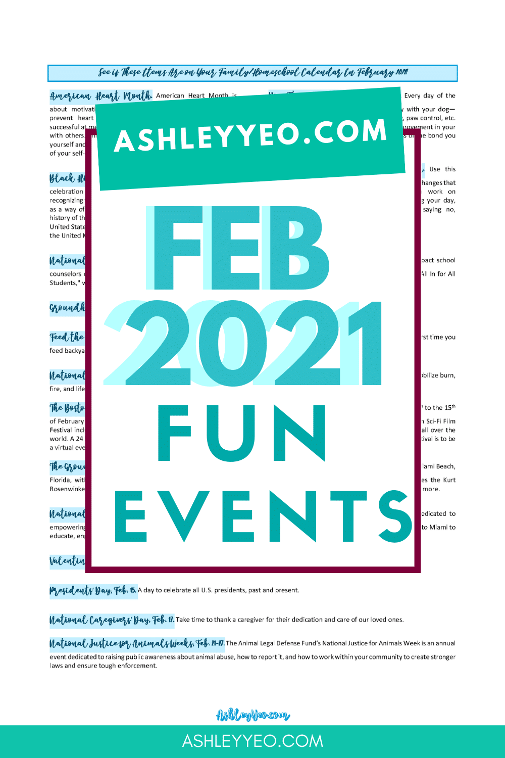February Events 2021